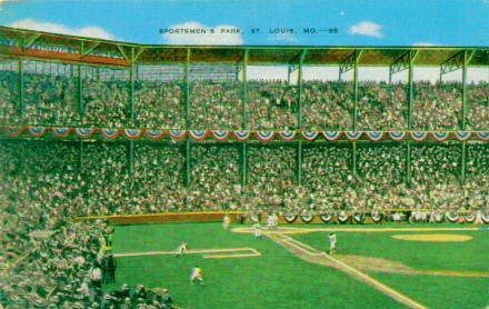 classic american league ballpark postcards